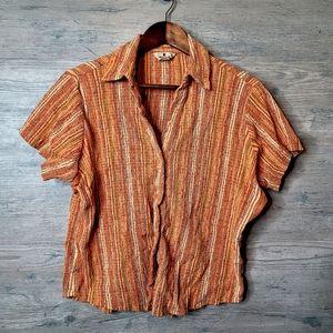 Woolrich Striped Button Down Shirt. Perfect! Soft